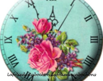"Cabochon stuck resin 25 mm for jewelry theme ""Watch"""