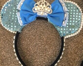 Custom Made Mickey Ears Headband - Cinderelle