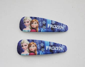 2 x Barrette - Anna and Elsa snow Queen