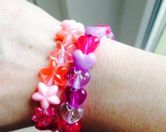 Set of 2 bracelets for little girl