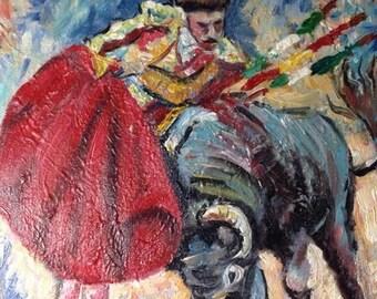 Original Acrylic Painting - Bullfighter/Toreo