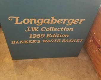 Longaberger 1989 Edition Banker's Waste Basket