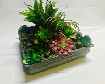 Rustic Succulent Arrangement