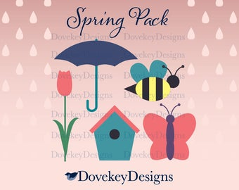 Spring Pack for Cricut/Silhouette (svg)