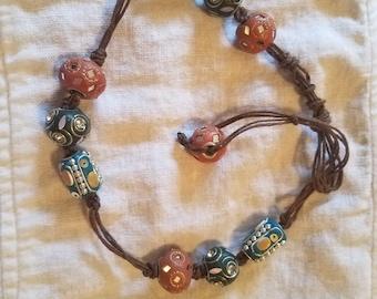 Choker hemp bead jewelry