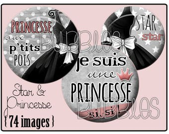 Digital collage sheets - Black Dress Printable Images for Jewelry Making