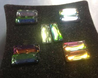 Lot 6 Connector rectangular Prism multicolor