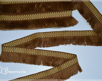 Stripe Brown fringe 5.5 cm polyester the price listed is for 50 cm