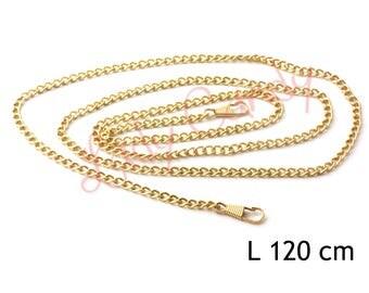 Chaine bandouliere 120 cm Coloris Doré  mousquetons Pochette de soirée #330164