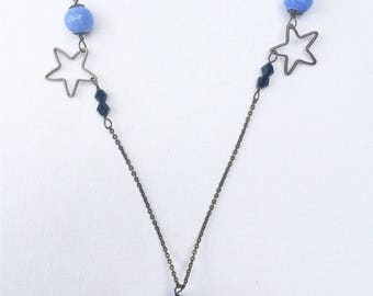 Long necklace with Murano glass beads
