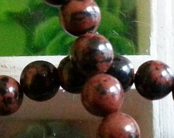 10 pearls of Red Jasper 4mm diameter, hole 1 mm
