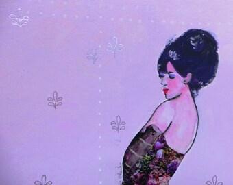 Lisbeth acrylic on paper 25 x 25 cm unframed