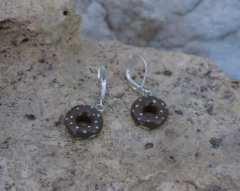 Earrings mini donuts