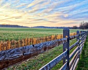 Sunrise over the Monocacy Battlefield , Frederick Maryland