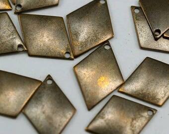 Antique brass diamond shape