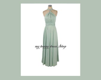 FREE SHIPPING Promotion! Mint LONG Maxi Infinity Dress Gown Convertible Multiway Wrap Dress Bridesmaid Dress Evening Dress