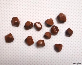 Geometric beads GOLDSTONE