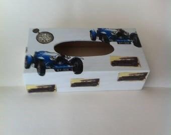 Vintage cars tissue box