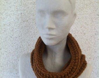 Snood hood Brown wool and acrylic so soft!