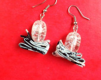 Crackle effect bead and liberty earrings
