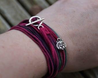 Silk wrap around the wrist bracelet