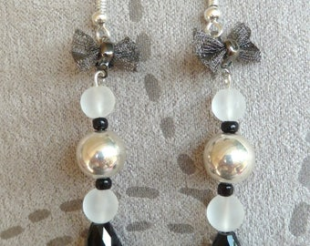 """Earrings """"drops and bow"""""""