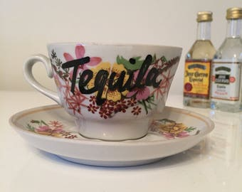 Handmade teacup and saucer