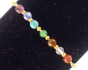 Plated Gold - 7 chakras bracelet