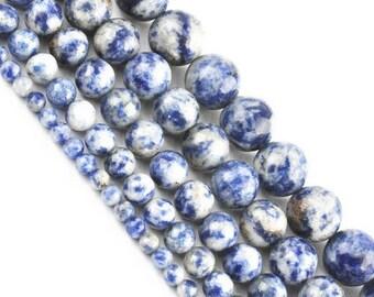 4 x 20 mm sodalite round bead