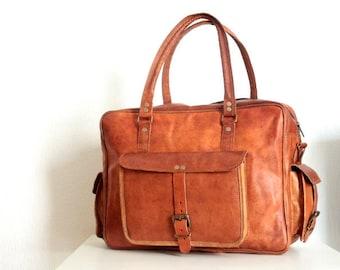 Leather bag, large size