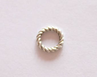 spacer connector shaped ring 8 * 1, 3 mm, set of 5