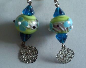 Blue Green earrings