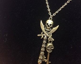 Skull keys necklace