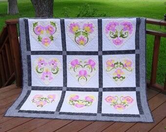 June Bride, applique pattern