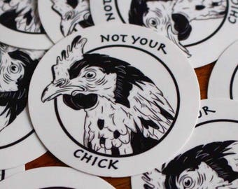 VEGAN 'Not your Chick' Sticker
