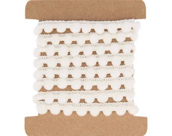 Chocolate white 10 mm x 1 m - Artemio - Ref. 11005283 (Ribbon tassels)
