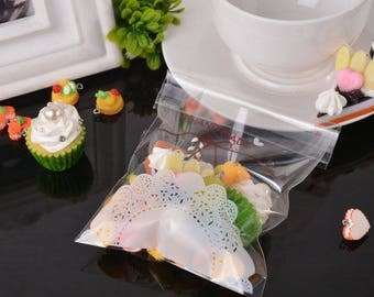 10 sachets bags pouches plastic Auto-adhesif 14 x 10 cm