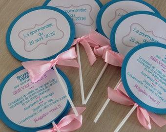 Petite shape lollipop for baptism or wedding