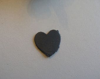 soft leather gray heart applique