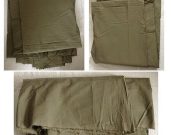 Fabric cotton coupon 3 m khaki green for sewing clothing creations sewing notions