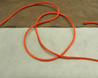 Red rat tail - 0, 2 cm Ribbon - satin finish