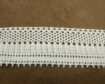 Ribbon embroidery-3 cm-100% cotton - white