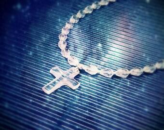 Swarovsky Crystal Angelic Rosary Style Necklace