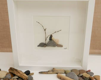 Pebble/Stone Art - 'Alone at Last'
