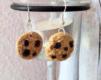 Polymer chocolate cookies Stud Earrings