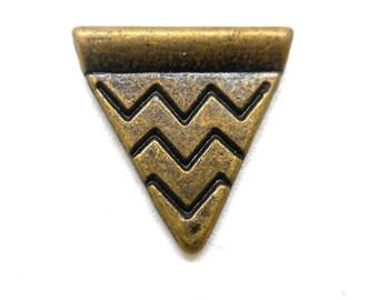 Bronze ethnic triangle charm
