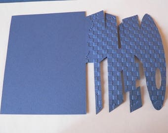 name theo blue scrapbooking card