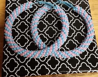 Peyote stitch hoops