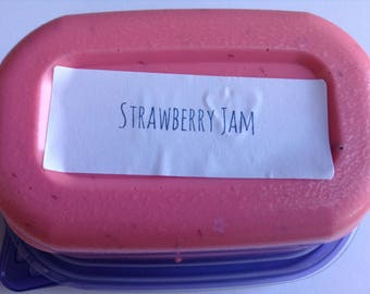 Strawberry jam butter slime
