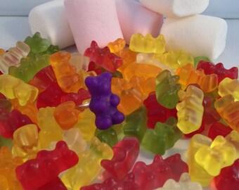 Sweet Teddy bear purple Fimo ring
